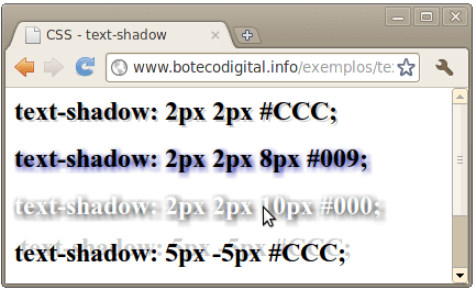 CSS3 - text-shadow 1