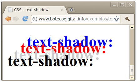 CSS3 - text-shadow 2