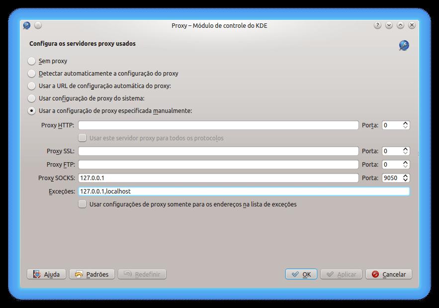 Configuração do Proxy