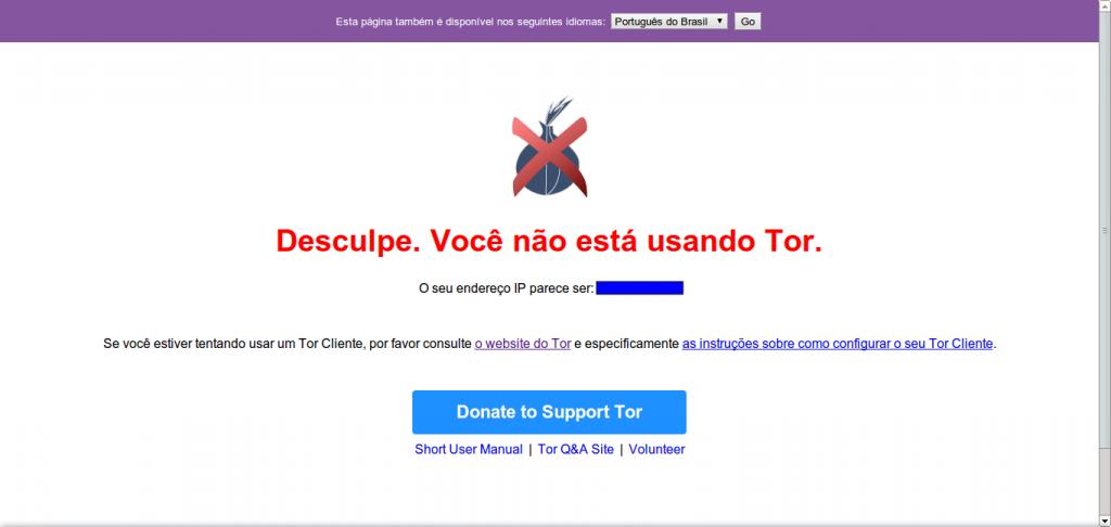 Verificação do Tor - Falha