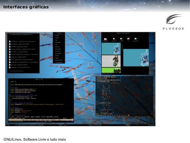 Interface Fluxbox